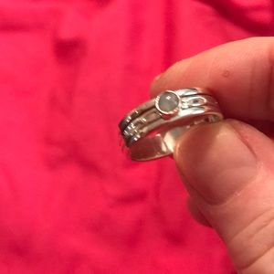 Jewelry - Moonstone Sterling Silver Stackable Rings